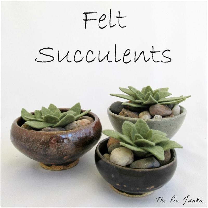 Felt Succulents Tutorial by The Pin Junkie