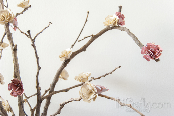 Paper Blossom Branches Tutorial by Titi Crafty