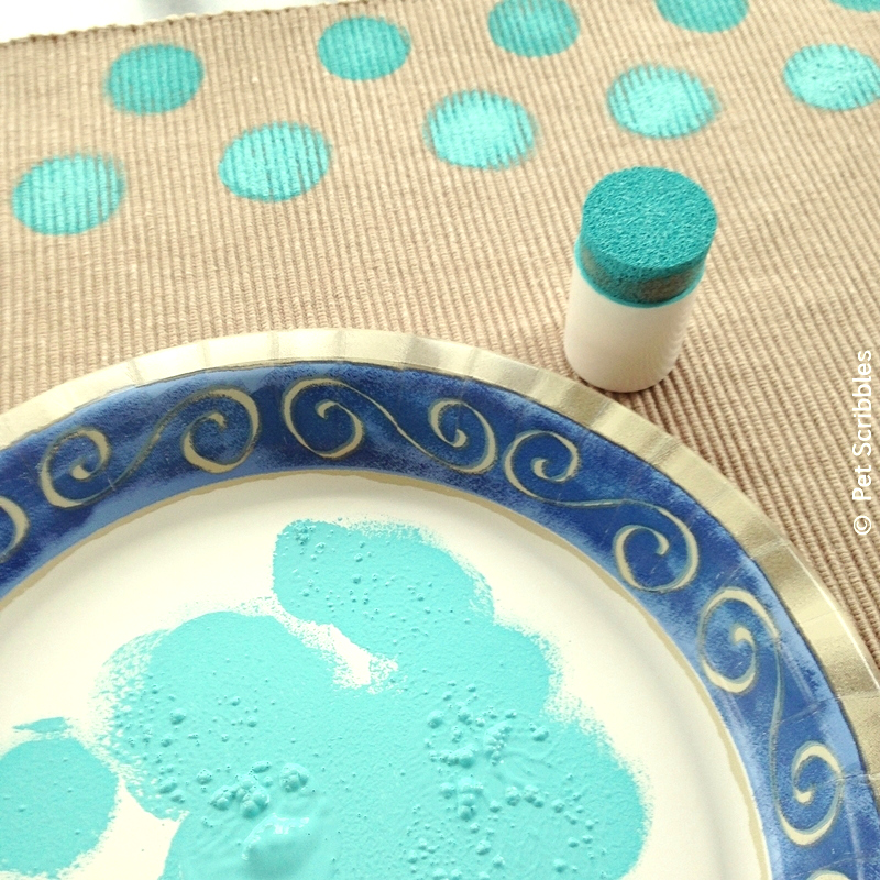 Polka Dot Placemats DIY
