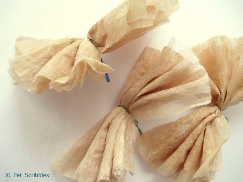 dryer sheet flower DIY