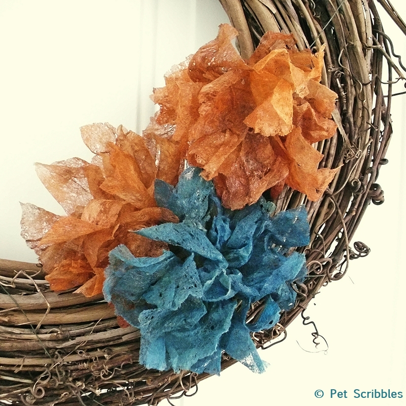 dryer sheet shabby flowers