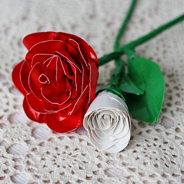 Realistic Duct Tape Roses Tutorial from Crafts by Amanda