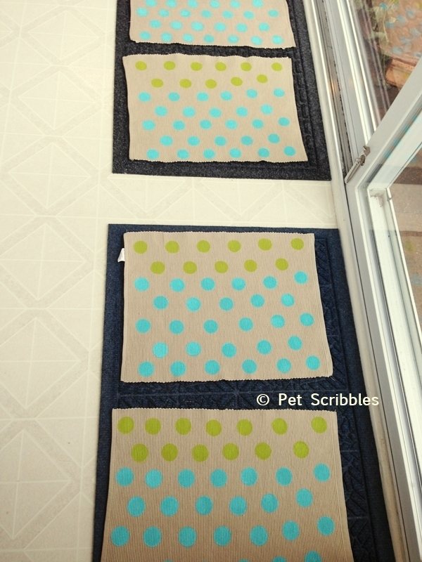 Polka Dot Placemats: easy DIY!