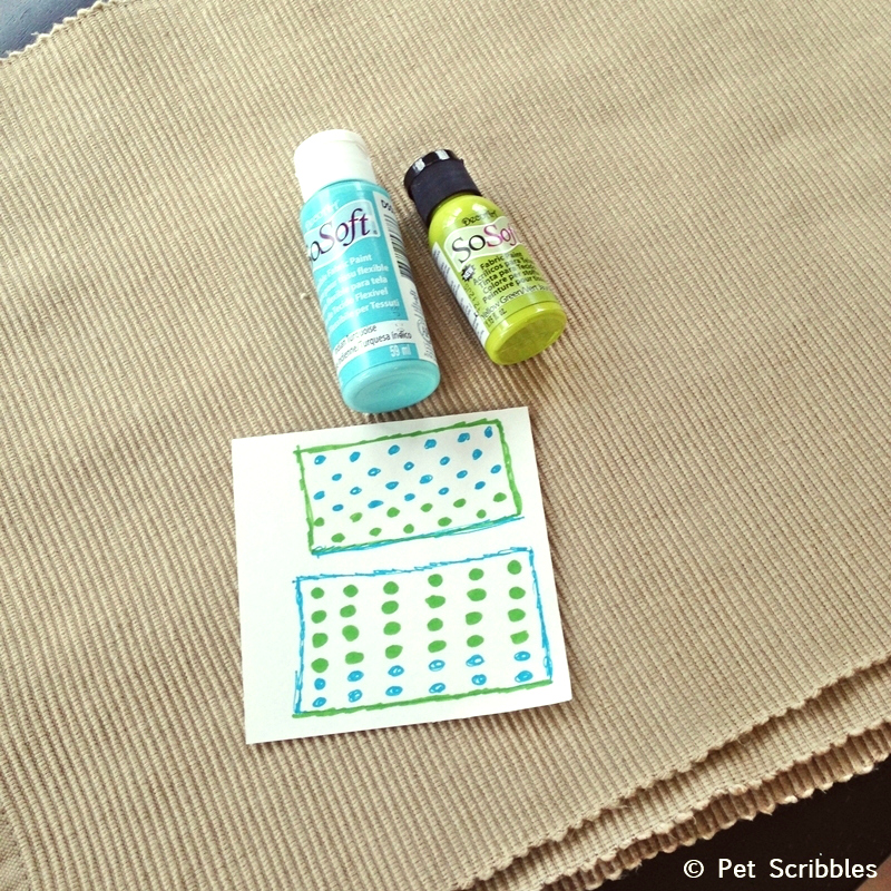 Polka Dot Placemats: a super easy DIY!