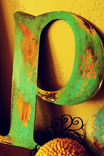 Aged/Peeling Paint Letter by Brassy Apple