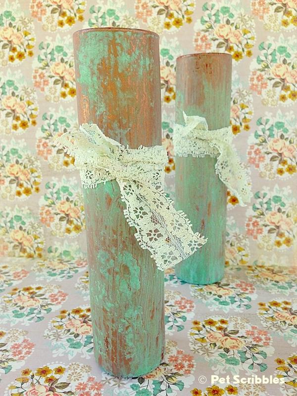 DIY Copper Pipe Vase from Glass