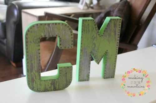 DIY Vintage Monogram Letters by Making It in the Mountains