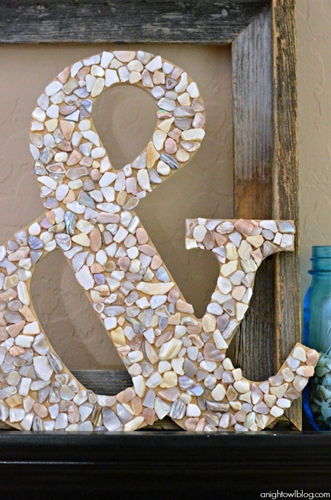 DIY Seashell Ampersand by A Night Owl