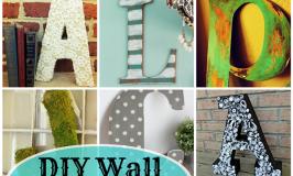 DIY Wall Letters: 16 Fantastic DIYs