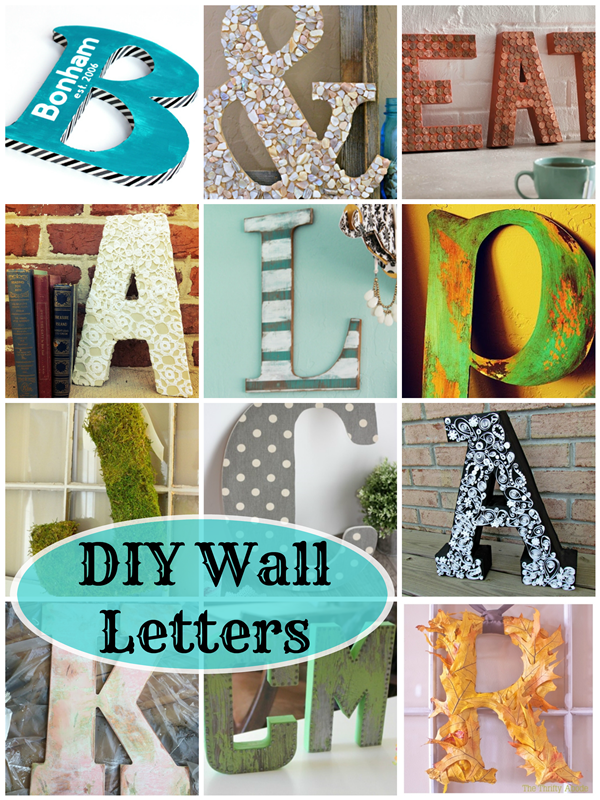DIY Wall Letters: 16 Fantastic Ideas