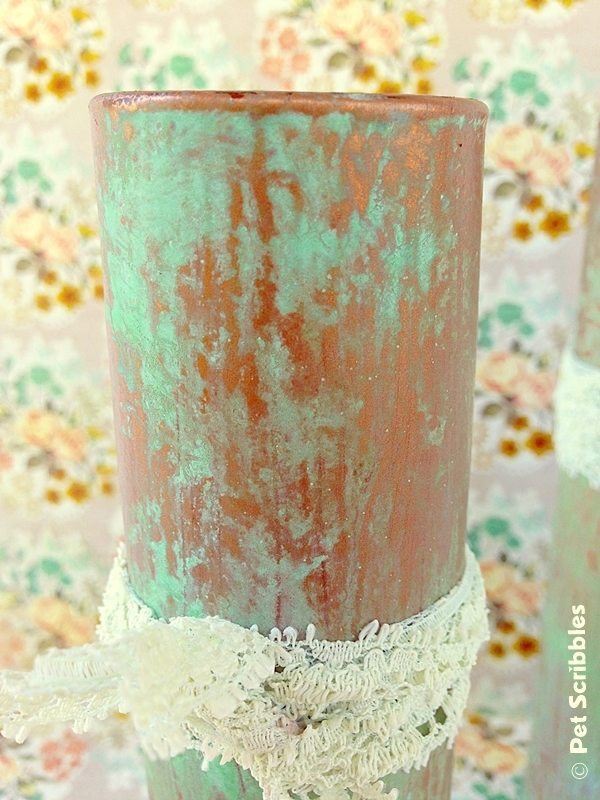 DIY Copper Pipe Vase from Glass
