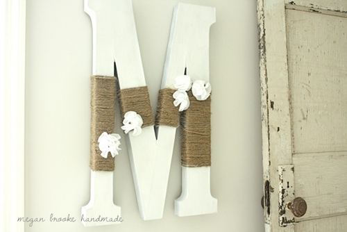 Felt Flower Initial by Megan Brooke Handmade