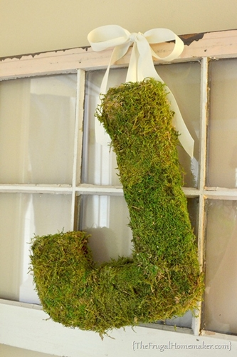 Moss Covered Monogram by The Frugal Homemaker