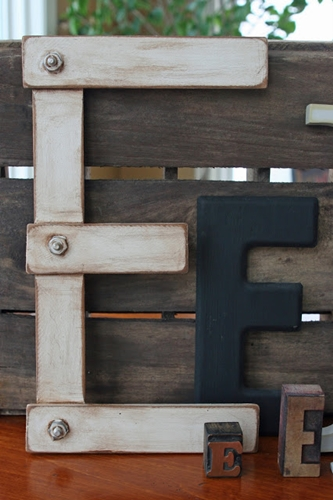 Paint Stick Letter by Mamie Jane's