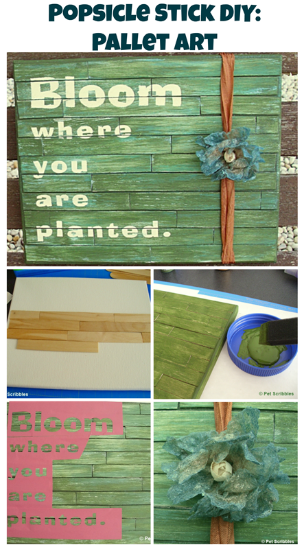 Popsicle Stick DIY - Pallet Art