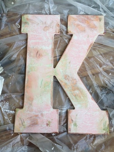 Pretty Distressed Wooden Letter by Little Lovey Doves