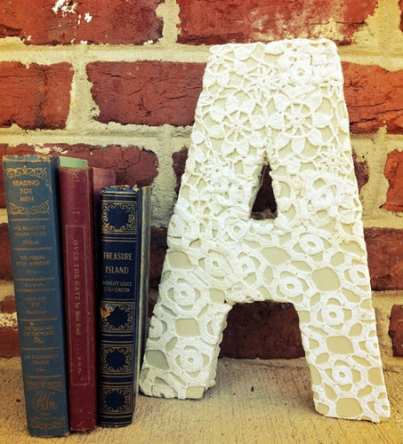 Vintage Lace Doily Monogram by Avery and Anderson