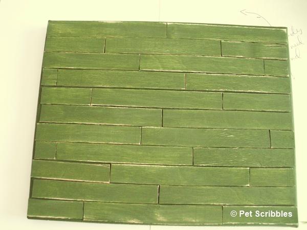 sanding faux pallet art