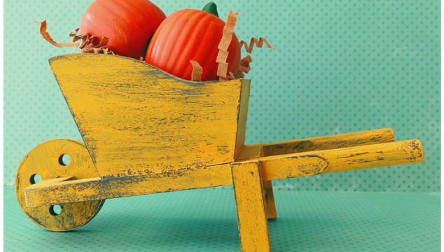 Rustic Mini Wheelbarrow by Pet Scribbles for Deja Vue Designs