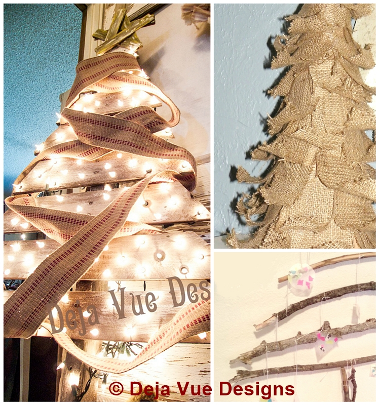 3 Rustic Christmas Tree DIYs
