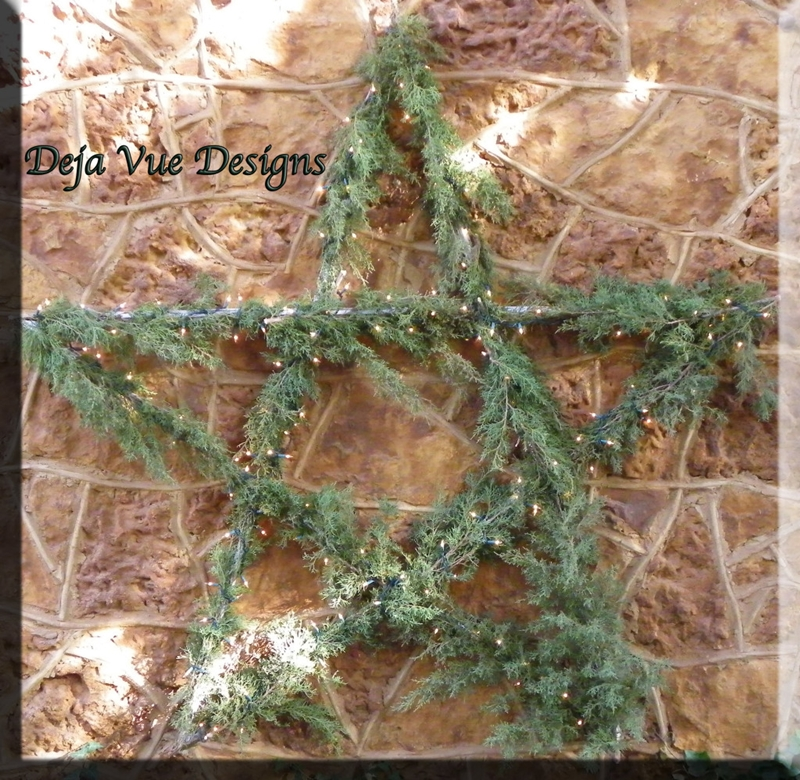 DIY Evergreen Star with Lights