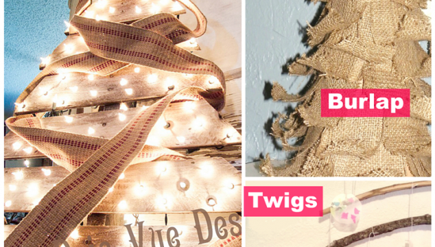 DIY Rustic Christmas Trees