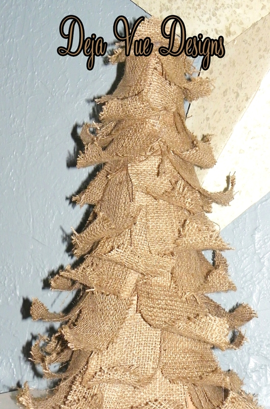 Rustic Burlap Christmas Tree