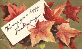 Thanksgiving Wishes vintage image
