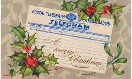 Telegram Christmas Postcard