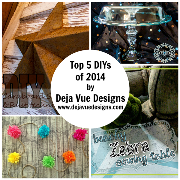 Top 5 DIYs of 2014 by Deja Vue Designs