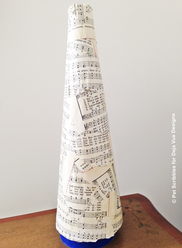 Sheet Music Santa Hat