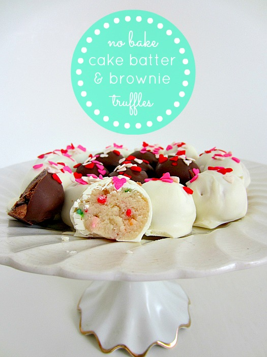 No Bake Cake Batter and Brownie Truffles recipe by Club Narwhal