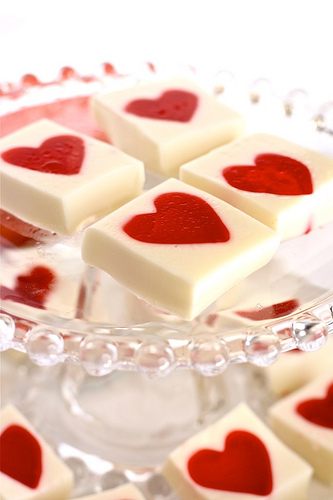 Valentines Jello Hearts recipe by The Hungry Housewife