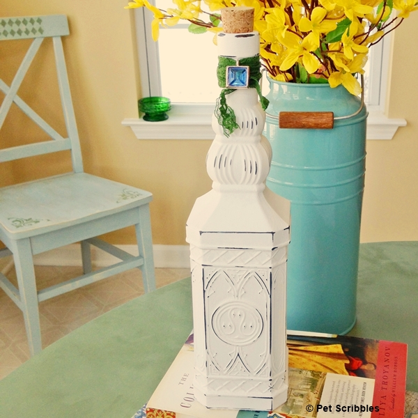 Shabby Bottle DIY