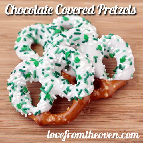 Chocolate Covered Pretzels Recipe | Love From The Oven