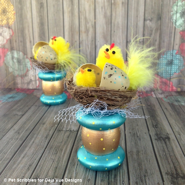 Easter Chicks Spring Spool Craft