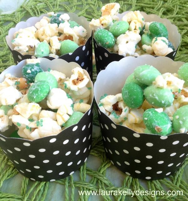 Chocolate Mint M&M Popcorn Mix | Laura Kelly Designs