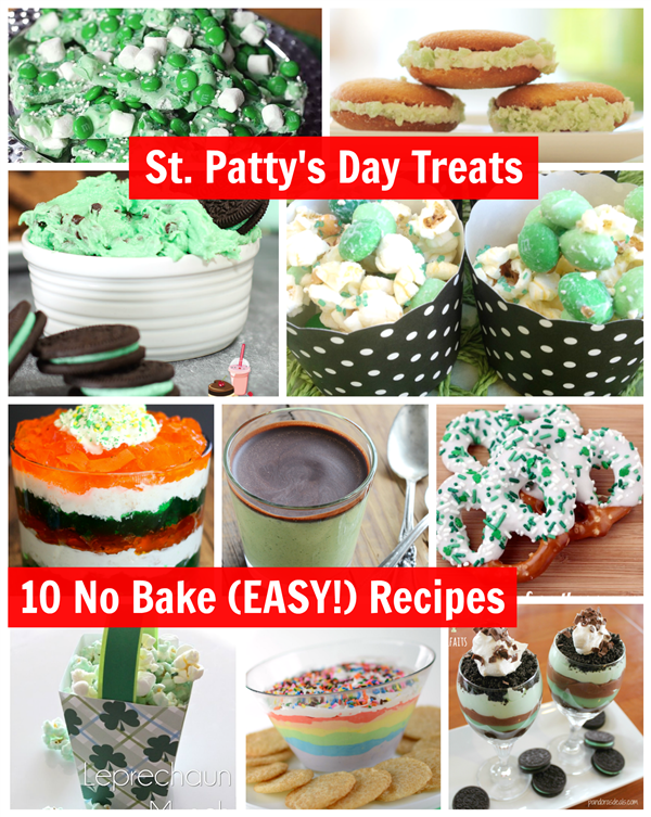 St Patrick's Day Treats - 10 No Bake Easy Recipes