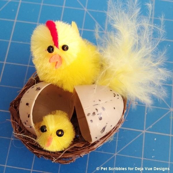 miniature chicks in nest