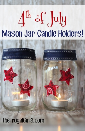 Mason Jar Candle Holders | The Frugal Girls