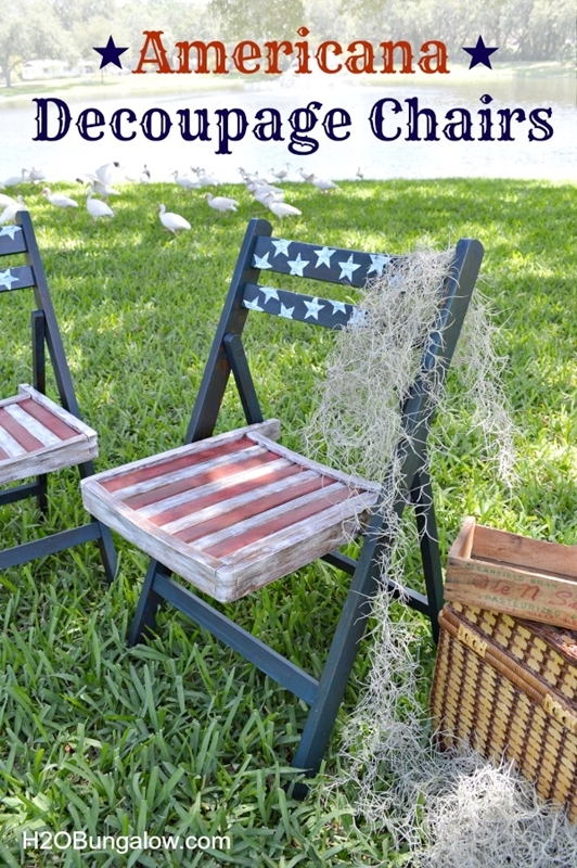 Americana Decoupage Chairs | H2O Bungalow