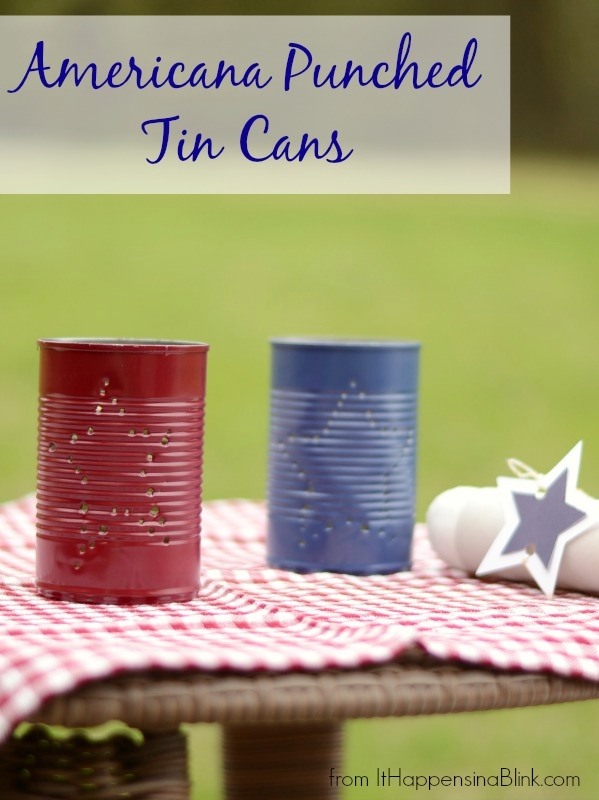 Americana Punched Tin Cans | It Happens in a Blink