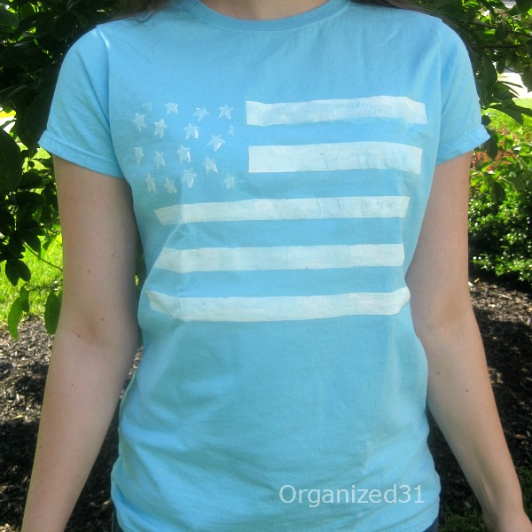 Easy Painted Flag Tee | Organized 31