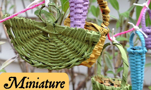 Miniature Basket Garland for a Fairy Garden!