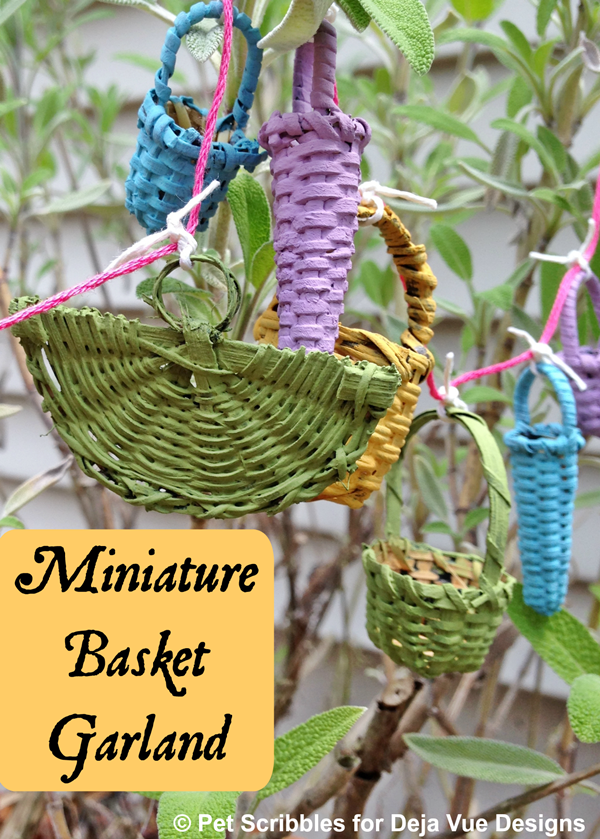 Miniature Basket Garland for a Fairy Garden