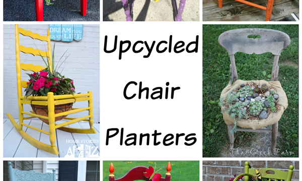 Upcycled Chair Planters