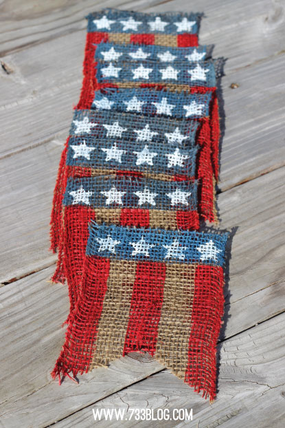 Stars and Stripes Burlap Bunting | Seven Thirty Three