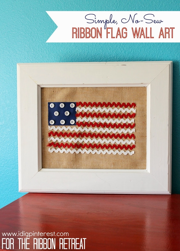 Ribbon Flag Wall Art | I Dig Pinterest