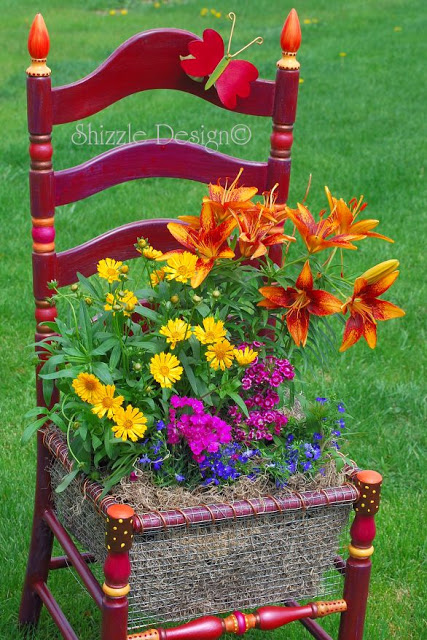 Syd's Chair Memorial Planter by Shizzle Design