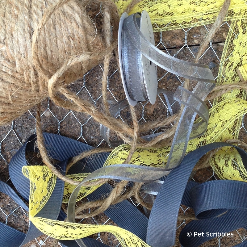 Gray and Yellow Ribbons